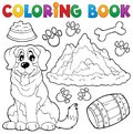 Coloring book dog theme eps vector illustration Royalty Free Stock Image