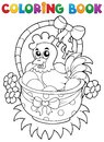 Coloring book with Easter theme 8 Royalty Free Stock Images