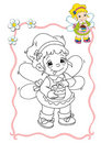 Coloring book - fairy 9 Royalty Free Stock Photos