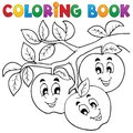 Coloring book fruit theme eps vector illustration Royalty Free Stock Image