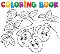 Coloring book fruit theme eps vector illustration Stock Photo