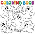 Coloring book ghost theme eps vector illustration Stock Photo