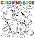 Coloring book halloween image eps vector illustration Royalty Free Stock Images