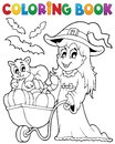 Coloring book halloween image eps vector illustration Royalty Free Stock Photo