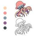 Coloring book (jellyfish)
