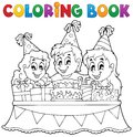 Coloring book kids party theme eps vector illustration Stock Photos