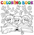 Coloring book kids theme eps vector illustration Royalty Free Stock Photo