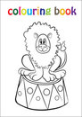 Coloring Book With Lion Circus Royalty Free Stock Photography