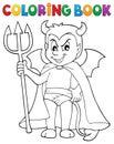 Coloring book little devil