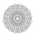 Coloring Book Mandala. Circle lace ornament, round ornamental pattern, black and white design