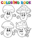 Coloring book mushroom Stock Photo