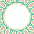 Coloring book pages for kids and adults. Hand drawn abstract design. Decorative Indian round lace ornate mandala. Frame or plate d Royalty Free Stock Photo