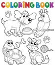 Coloring book with pets 3 Royalty Free Stock Photo