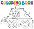 Coloring book police car theme 1