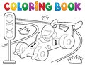 Coloring book racing car theme 1