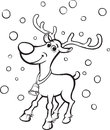 Coloring Book Rudolph the red-nosed reindeer Royalty Free Stock Photo