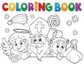 Coloring book Saint Nicholas Day topic 1 Royalty Free Stock Photo