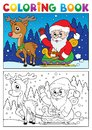 Coloring book Santa Claus topic 7 Royalty Free Stock Photography