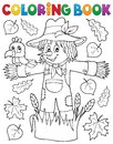 Coloring book scarecrow theme 1 Royalty Free Stock Photo