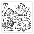 Coloring book, Seven tortoises