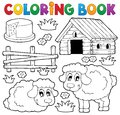 Coloring book sheep theme eps vector illustration Stock Photos