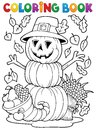 Coloring book thanksgiving image eps vector illustration Stock Photography