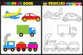 Title: Coloring book vehicles