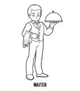 Coloring book, Waiter