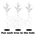 Coloring for Children with Trees