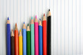 Coloring crayons arranged Royalty Free Stock Photo