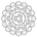Coloring Outline Abstraction Mandala