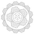 Coloring Outline Mandala Flower