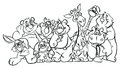 Coloring Page `Animal Series `
