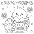 Coloring page `Happy Easter`.