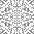 Coloring page mandala star ornament