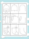 The coloring page with pattern illustration for the kids happy and colorful christmas exercise christmas subject children Royalty Free Stock Photography