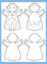 The coloring page with pattern illustration for the kids happy and colorful christmas exercise christmas subject children Stock Photo