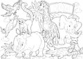 Coloring page the zoo illustration for the children beautiful Royalty Free Stock Photos