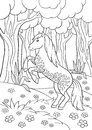 Coloring pages. Farm animals. Beautiful horse. Royalty Free Stock Photo