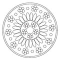 Coloring Simple Chamomile Mandala