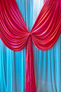 Colorized curtain the close up of paroket Royalty Free Stock Image
