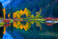 Colors of Fall, Jolanda Lake, Washington Stock Images