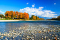 Colors of Fall,  Skykomish River, Washington Royalty Free Stock Images