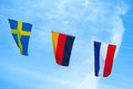 The colors Flag of Euro 2012. Stock Photos