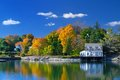 Colors of indian summer maine beautiful in Royalty Free Stock Images