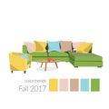 Colors of 2017 in interior design