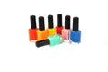 Colors nail polish of bright summer Stock Photo