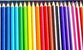Colors pencil background art and education Stock Photography