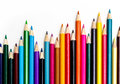 Colors pencil - education statistics Stock Image