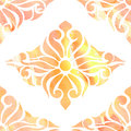 Colors seamless eastern ornament abstraction orange watercolor Royalty Free Stock Photography